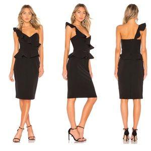 Bardot One Shoulder Black Dress